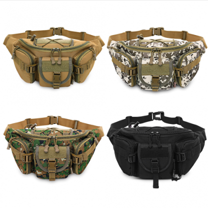 5L Tactical Molle Bag Waterproof Waist Fanny Pack Hiking Fishing Sport Hunting Waist Bags Camping Sport Bag Belt - 4 Colors