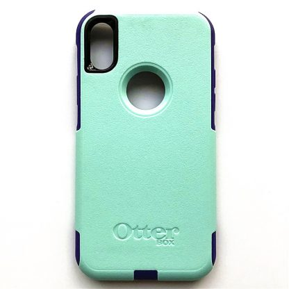 iPhone X OtterBox Commuter Case - Teal/Purple