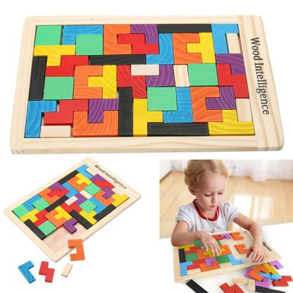 Cartoon Intellectual Educational Toys Wooden Puzzles For Kids