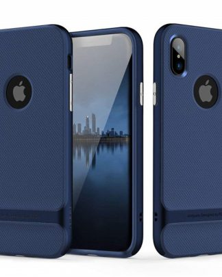 iPhone X Rock Royce Ultra Thin Heavy Duty Hard PC + Soft TPU Case - Blue