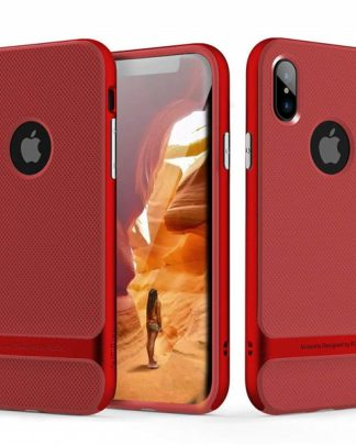 iPhone X Rock Royce Ultra Thin Heavy Duty Hard PC + Soft TPU Case - Red